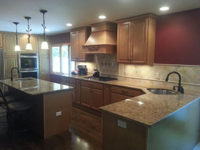 Remodeled Kitchen with Island on Long Island
